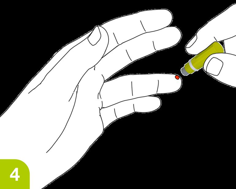 Seguridad de la aplicación Lancetas: la aguja se retrae inmediatamente después de su uso, no se puede volver a utilizar inadvertidamente